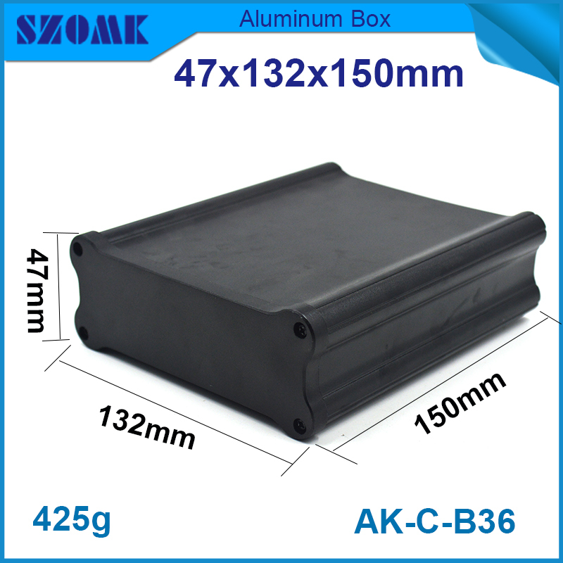 This is the Aluminum high quality enclosures in Black color which is bone different shape fit PCB height is  36.4 mm , width 120This is the Aluminum high quality enclosures in Black color which is bone different shape fit PCB height is  36.4 mm , width 120