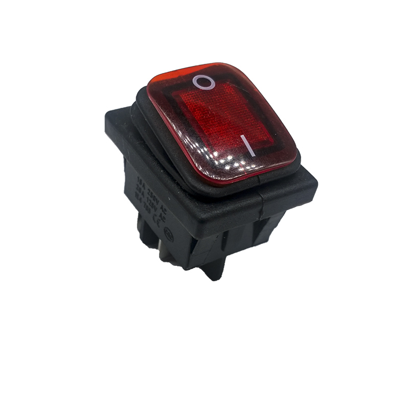 1pcs KCD4 Red LED Round 4 Pin DPST Snap-in ON/OFF Panel Mounting Waterproof Boat Rocker Switch 16A/250V High Quality Copper feet maitech diy fog lamp on off rocker switch w mounting base led indicators black red