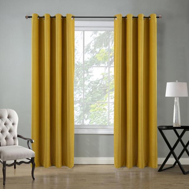 Modern Velvet Blackout Curtains for Living @ Bedroom