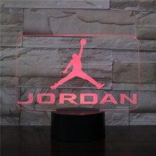 цена на Basketball Michael Jordan Usb 3d Led Night Light Boys Child Kids Fans Birthday Gifts Multicolor RGB AJ Desk Lamp Bedroom neon