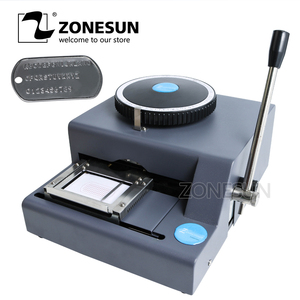 Image 2 - ZONESUN 52 Character Manual Dog Tag Machine Metal Embosser ID Card Stamping Machine Steel Embossing Machine Military Steel 99%