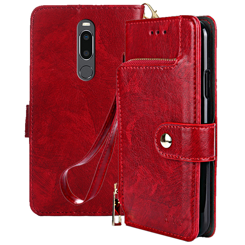 Premium PU Leather Flip Case For Meizu V8 Pro Zipper Wallet For Meizu V8 Pro Case Fundas 5 7 inch in Wallet Cases from Cellphones Telecommunications
