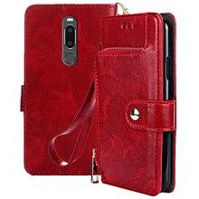 Premium PU Leather Flip Case For Meizu V8 Pro Zipper Wallet Fundas 5.7 inch