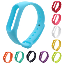 10 Colors Replacement TPU Wrist Loop Strap Silicone Wristband Smart Bracelet Band with Protector Frame For Xiaomi Mi Band 2