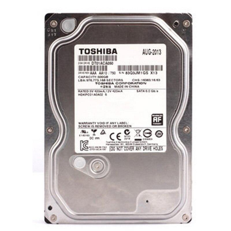 Внутренний жесткий диск Toshiba 3,5 дюйма, 500 Гб, 3,5 ГБ, HDD SATA 500 3,0 7200 об/мин, 32 Мб кэш-памяти, HDD для настольного ПК
