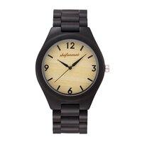Unisex Wrist Quartz Watch Wooden Round Fashion Durable Waterproof For Women Girl Men Student TT@88