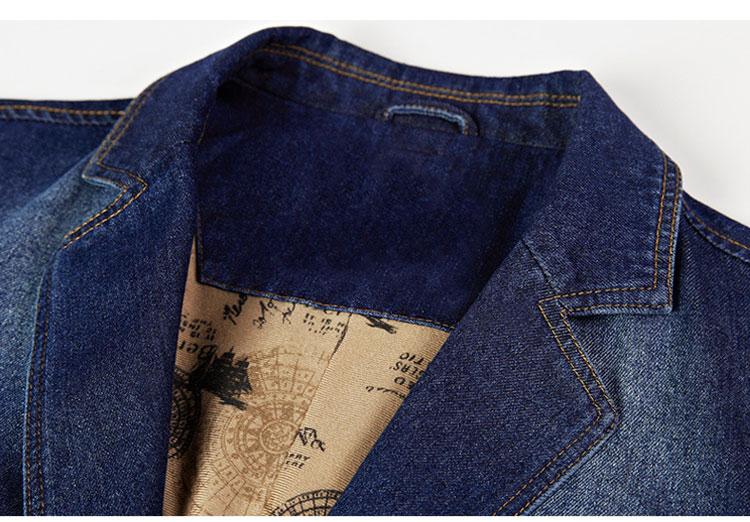 50c37c9b18 NUOVO Blazer Tempo libero cowboy Cappotti Jeans uomo Suit Autunno Denim  Giacche Uomo Moda Chaqueta Coat Jacket Top Giacche maschili esterno