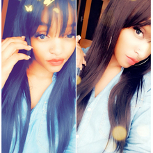 13×6 Lace Front Human Hair Wigs With Bangs For Black Women Remy Brazilian Human Hair Straight Lace Front Wig PrePlucked
