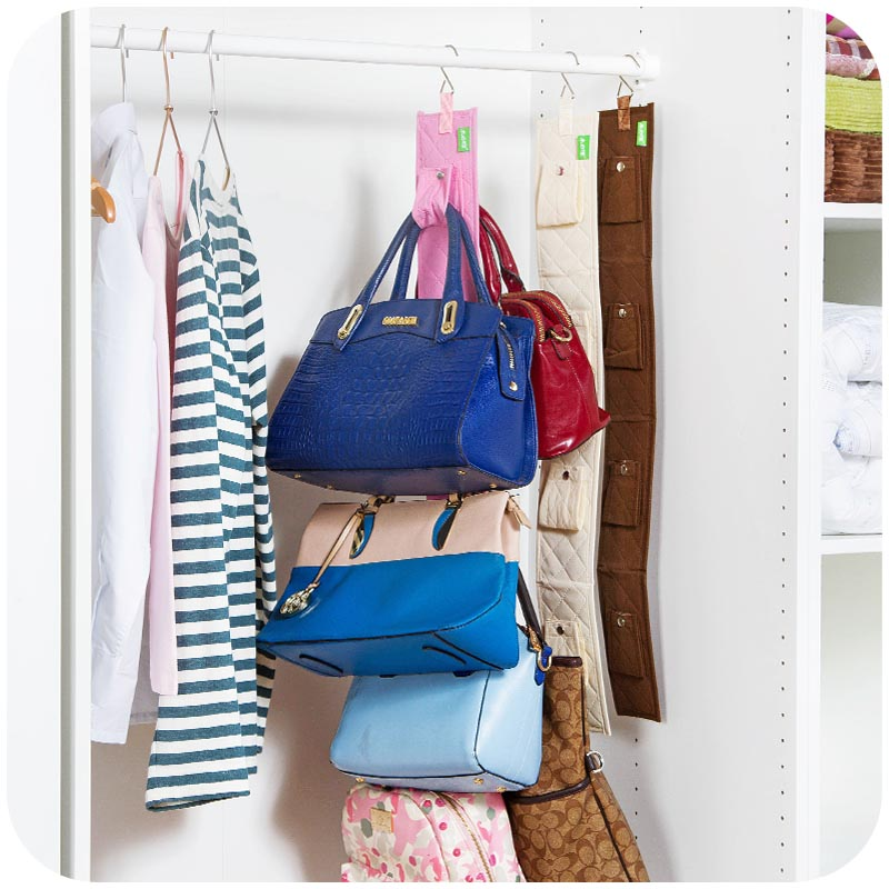 High Quality Hanging Handbag Closet Organizer Purse Storage 6 Hook Door Collection Hanger  Hat Bag Strap Belt Clothes
