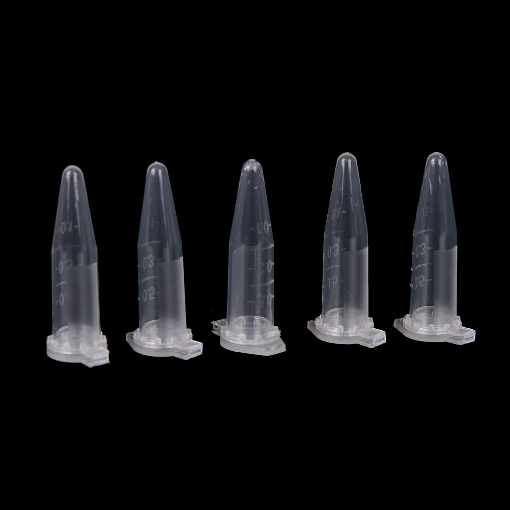 0.5 ML  50pcs Clear Micro Plastic Test Tube Centrifuge Vial Snap Cap Container For Laboratory Sample Specimen Lab Supplies