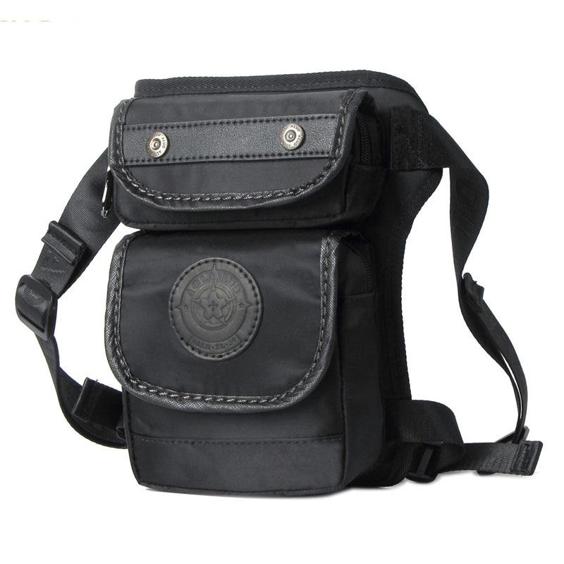 Waterproof Oxford  Drop Leg Bag Men Waist Fanny Pack Hip Small Messenger Shoulder Designer Motorcycle Rider Multi-purpose Bags