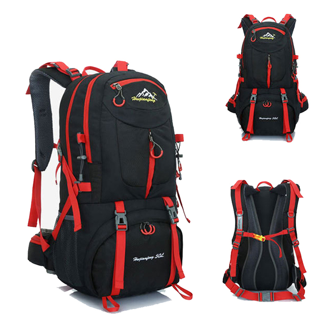 60L 50L 40L men waterproof backpack travel pack sports bag pack Outdoor Mountaineering Hiking Climbing Camping backpack for male 1