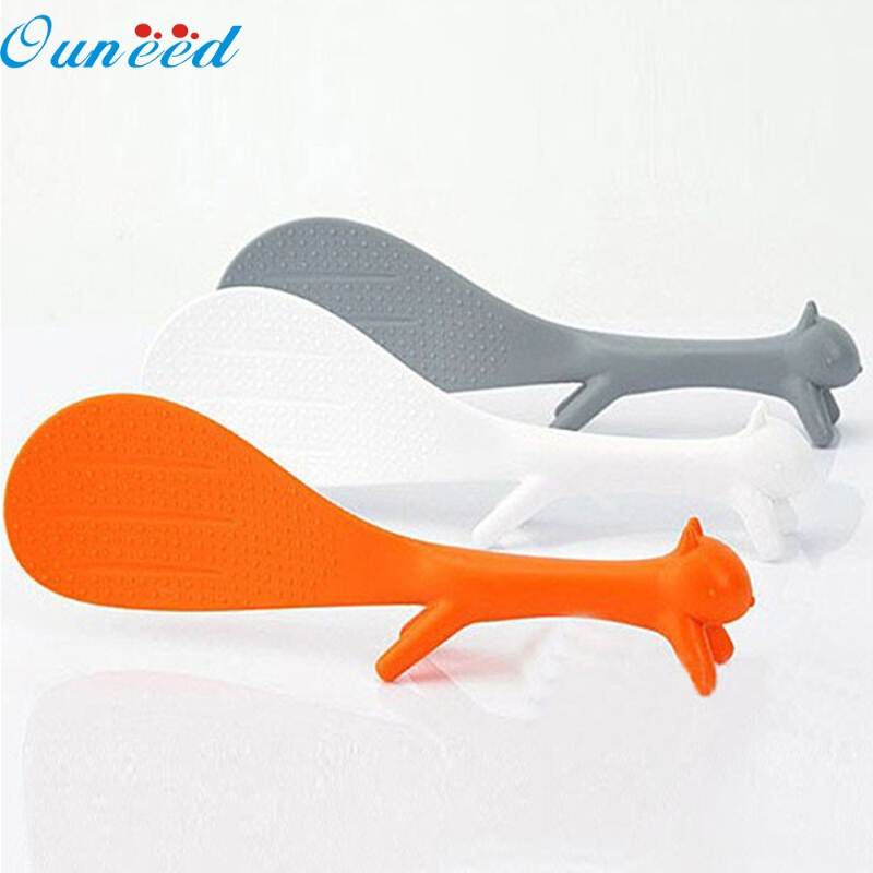 Ouneed Happy Home Creative Lovely Kitchen Supplie Squirrel Shaped Non Stick Rice Paddle 1 PieceOuneed Happy Home Creative Lovely Kitchen Supplie Squirrel Shaped Non Stick Rice Paddle 1 Piece