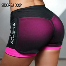 SHOOPBADOOP New Yoga Shorts Running Training Women Mesh Breathable Short For Athletic Sport Fitness Clothes S-XL