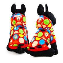 Мультфильм Зима Собак pet cat Комбинезон балахон одежда теплый флис маленькая собака хлопка ватник Пальто poodel Чихуахуа одежда для собак