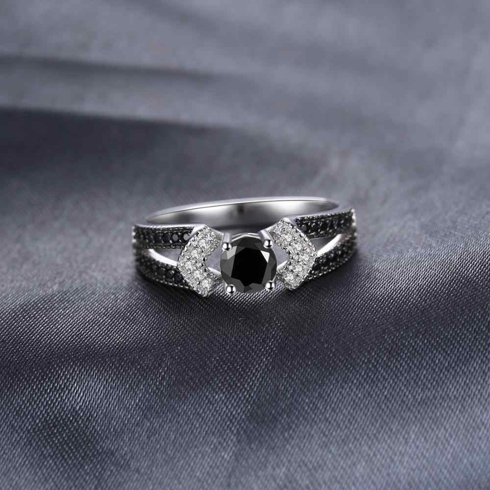 JewelryPalace ของแท้สีดำ Spinel แหวน 925 เงินสเตอร์ลิงแหวนแหวนหมั้นแหวนเงิน 925 อัญมณีเครื่องประดับ