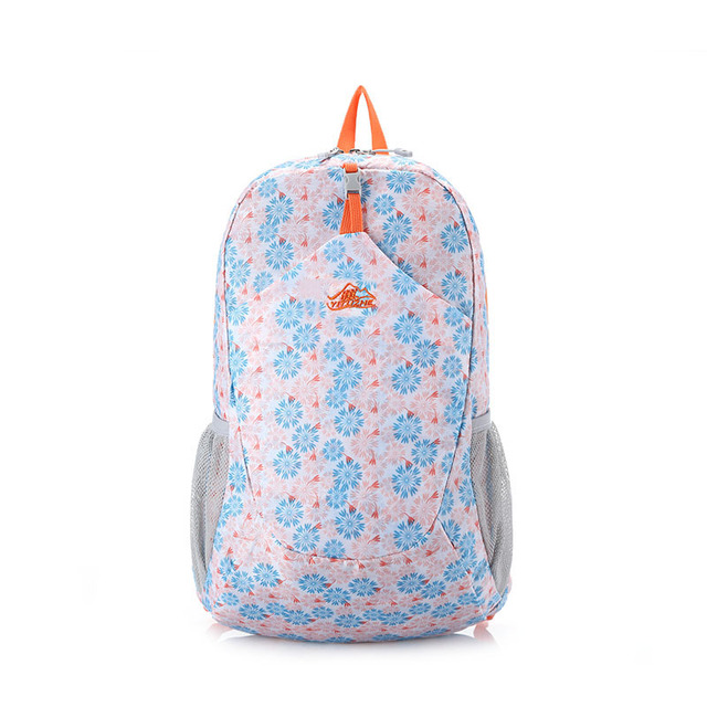969ffab2c1 Waterproof Nylon School Backpack With Flower Pattern For Women Girl Trendy  Leisure Travel Daypack Outdoor Hiking Camping Pack