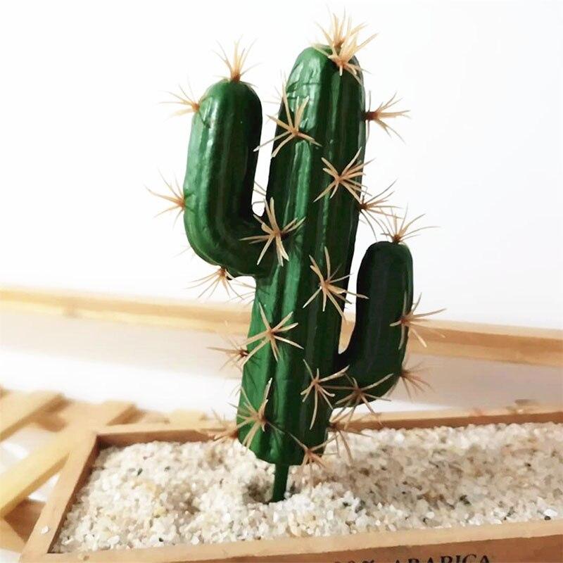 Simulation Artificial Cactus Succulent Flower Plant Vivid Creative Home Decor Artificial Flower Wedding Party Bedroom Office