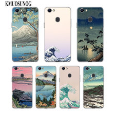 Transparent Soft Silicone Phone Case Wave Art Japanese Green I llust for OPPO F5 F7 F9 A5 A7 R9S R15 R17 Cover
