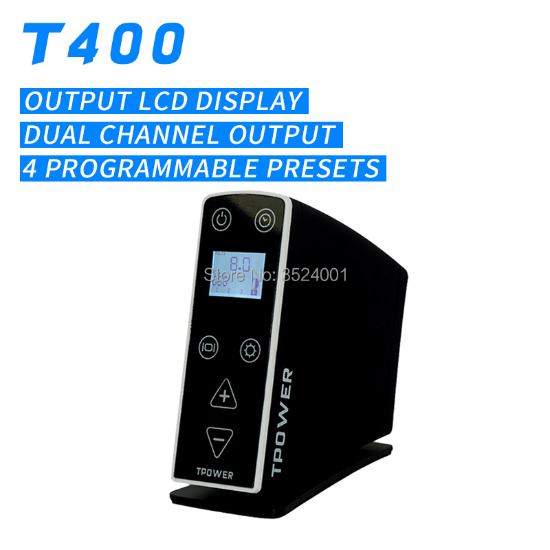 Free shipping New Design T-400 Tattoo Power Supply Product Preset Voltage fuentes de alimentacion tattoo supply chain design with product life cycle considerations