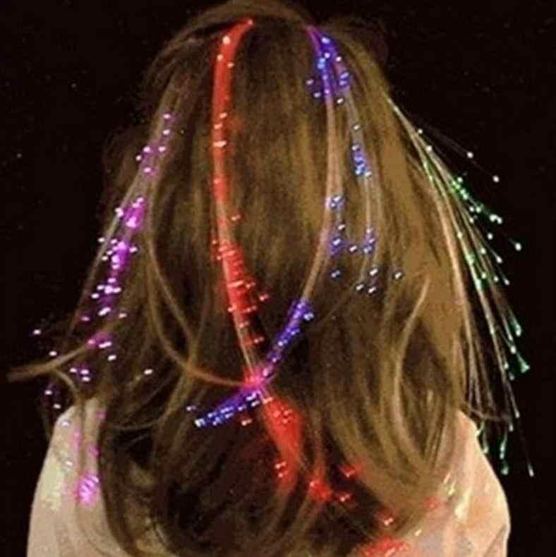 LED Blinkt Haar Braid Glowing Leucht Haarnadel Novetly Haar Ornament Mädchen Led Spielzeug Neue Jahr Party Weihnachten Geschenk