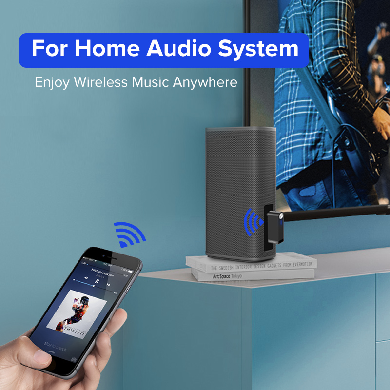 Ugreen Bluetooth Receiver 4.2 Trådløs Bluetooth Audio Receiver 3,5 - Bærbar lyd og video - Foto 5