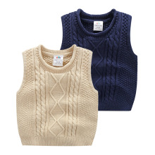 Kids Solid Sweater Vests 2016 Fall Winter Kroean New Baby Boys Pullover Sleeveless Sweater Casual Outerwear & Vests & Waistcoats