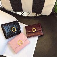 2019 mode Frauen Aus Echtem Leder Tasche Rindsleder Diamant Korn Wallet Card Geld Halter Kupplung Geldbörse Kurze Geldbörsen|Geldbeutel|Gepäck & Taschen -