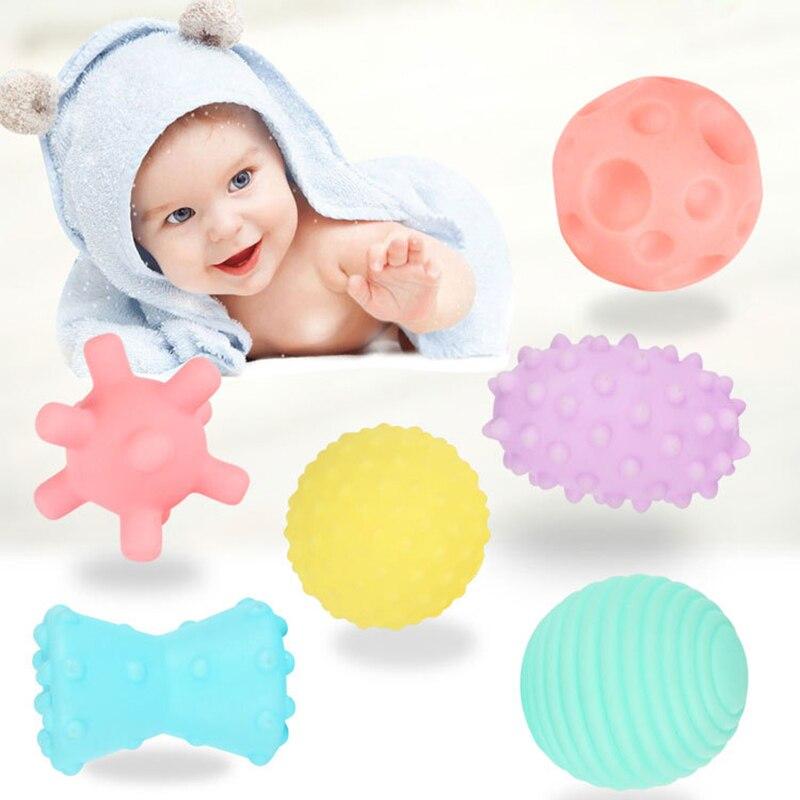 Juguetes de los niños de textura de bola suave juguete bola conjunto desarrollar bebé táctil sentidos juguetes formación masaje táctil mano bola