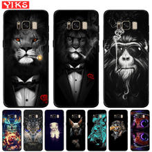 Cool Lion Tiger Monkey Animal Black TPU Case For Samsung Galaxy S10e S10 S9 S8 Plus Note 8 9 S7 Edge Silicone Cover Coque Fundas