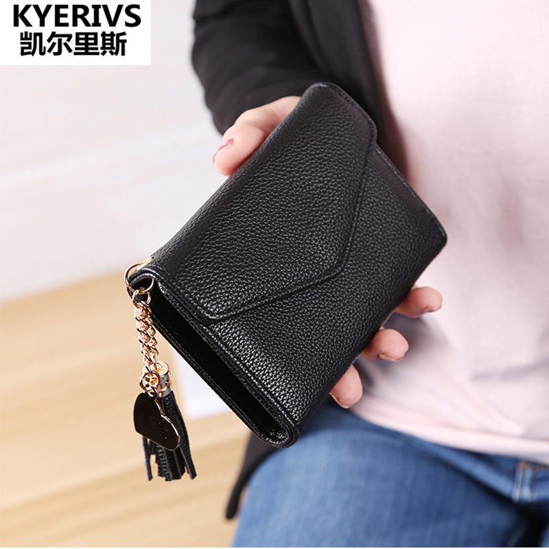 2017 Korean Pu Leather Wallet female Mini Wallet Women Small Clutch Female Purse Coin Card Holder Money Bag Cute Coin Purse dollar price women cute cat small wallet zipper wallet brand designed pu leather women coin purse female wallet card holder