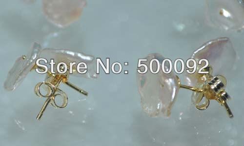 69fa9fe88210 Оптовая продажа много 10 пар 10-12 мм Кеши жемчужина коты серьги серебро  925 с золотым покрытием