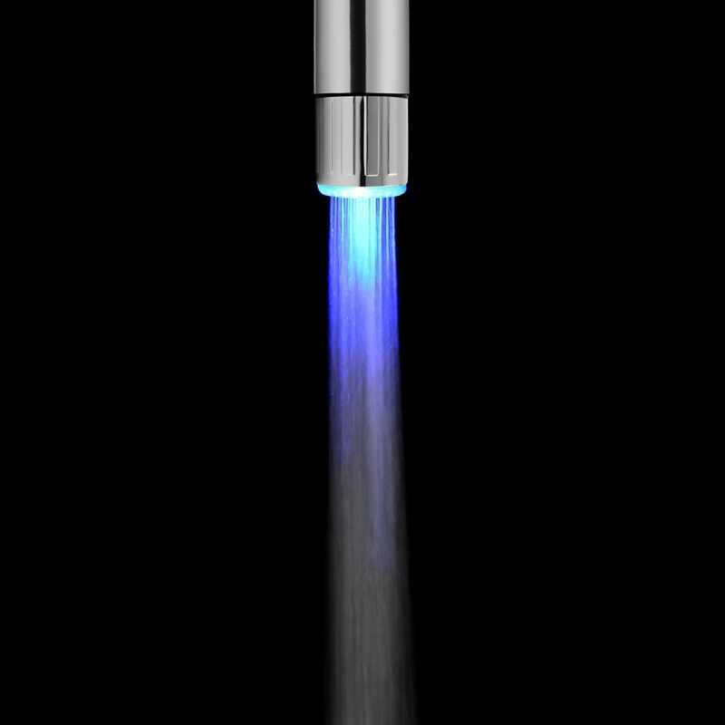 2049New LED kran wody zmiana koloru światła Glow prysznic szef kuchni aeratory