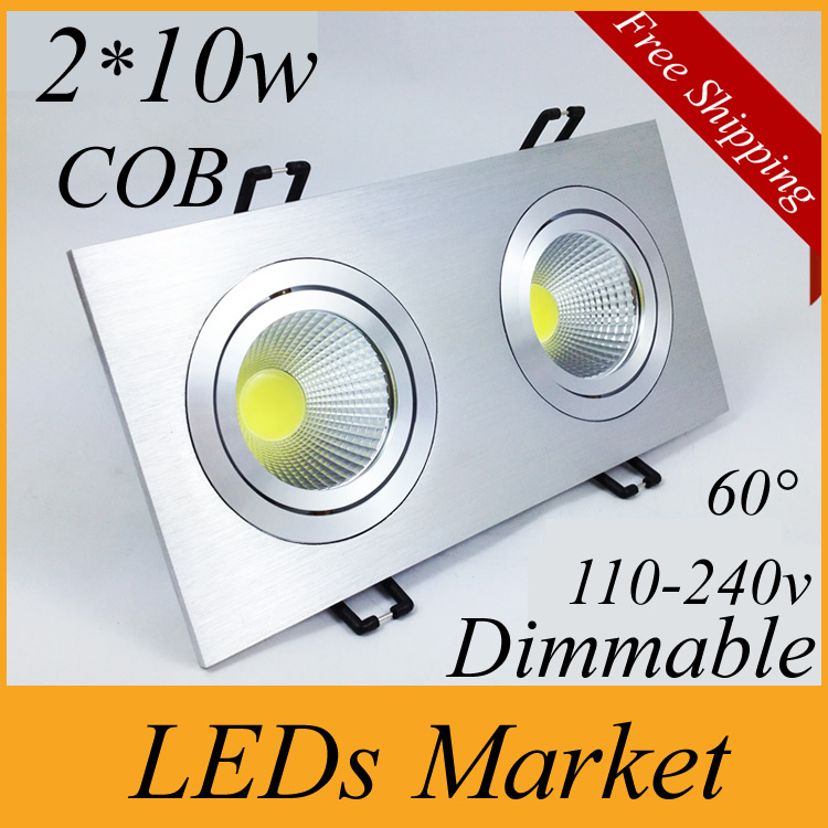 Us 212 0 20 Off 10w Cob Led Ceiling Down Lights 2 Recessed Dimmable Bulb Light Lighting 60angle 110v 220v Driver In Downlights