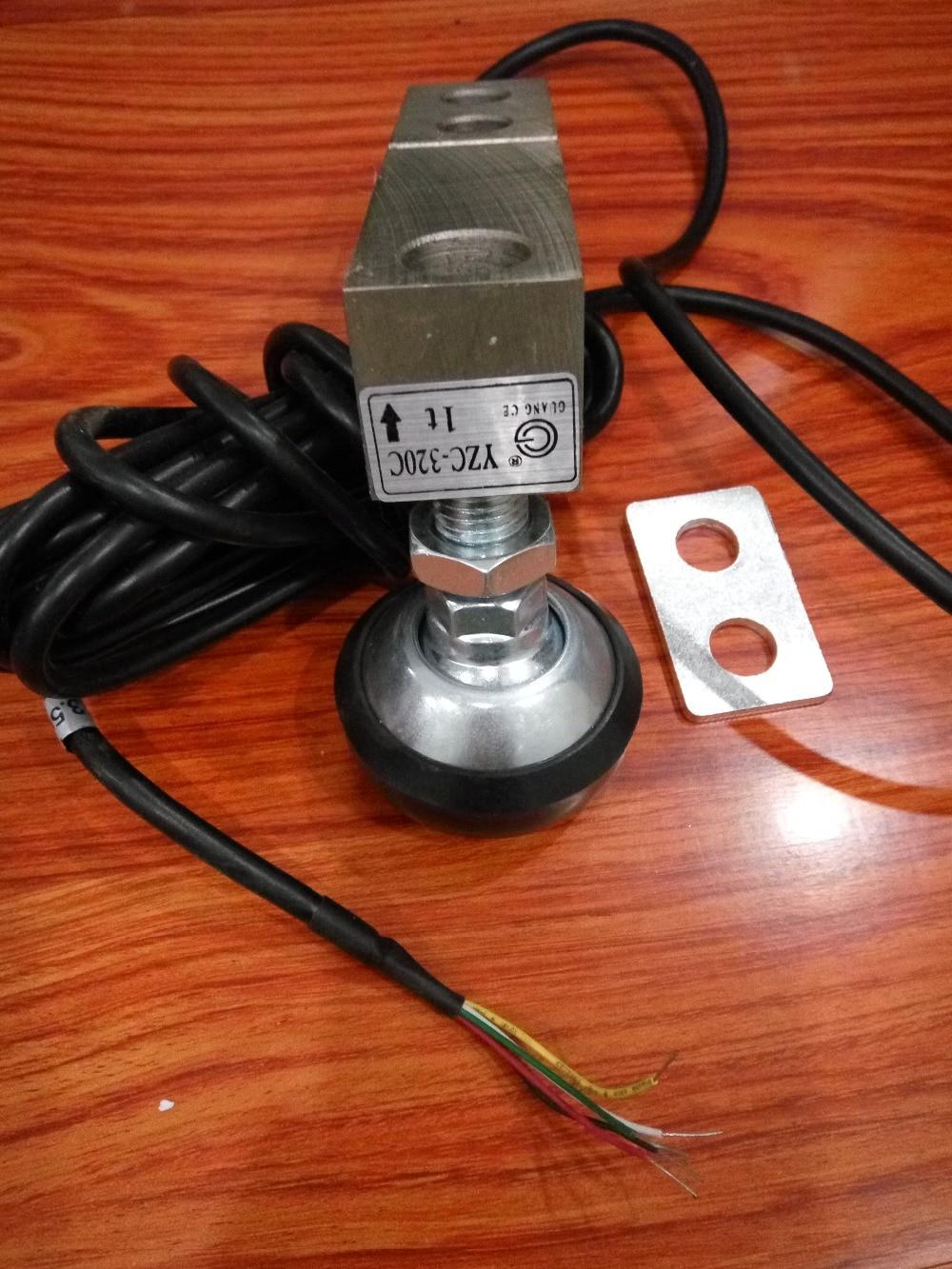 YZC-320C 0.5T 1T 2T 3 tonnes jauge de contrainte capteur de pression pour balance au sol cellule de charge capteur d'échelle électronique pression en porte-à-faux