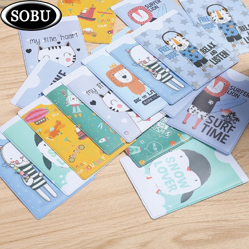 2019 Card Case Credit Card Holder Student Cute Cartoon ID Cards Women Wallet Passport Business Card Holder Book Protector  Gift