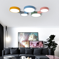 Moderne LED Decke Lichter Kreative Bunte Kinder Schlafzimmer Lampe Fernbedienung Lampe Spielzeug Ziegel Licht Leuchte Dimmbar Glanz-in Deckenleuchten aus Licht & Beleuchtung bei