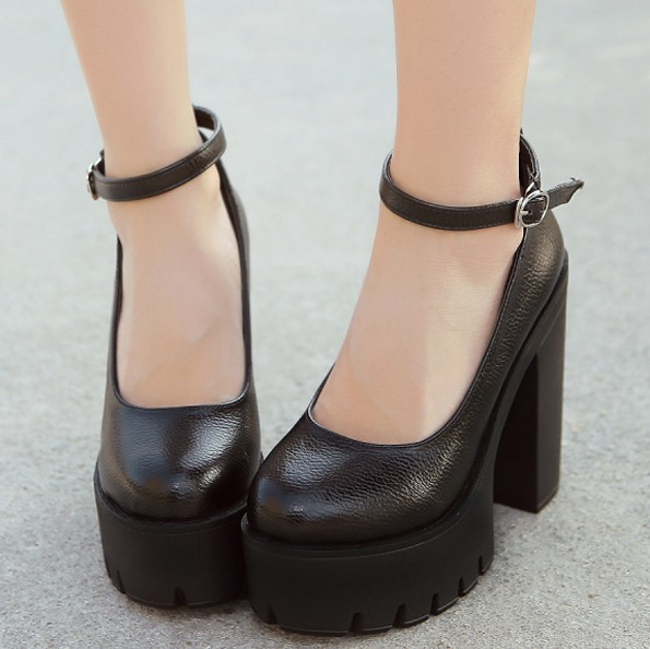 Compare Prices on Chunky Heel Ankle Strap- Online Shopping/Buy Low