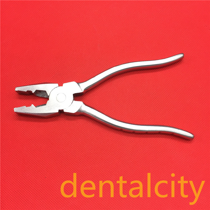 New 20cm Flat Nose Pliers With Serrated Jaws  Veterinary Orthopedics Instrument