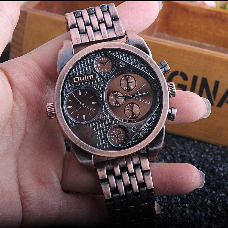 Luxury Brand Mens Quartz Watch Full Stainless Steel Antique Male Wrist Watch Military Sport men watches relogio masculino