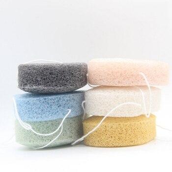 Clean Puff Face Cleansing Konjac Washing Face Oval Shaped Konjac Washing Cotton Konjac Elf Ball Sponge Makeup Puff Makeup Tools