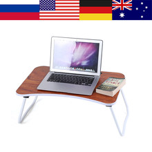 Multi-purpose Folding Laptop Bed Desk Portable Bamboo Laptop Table Sofa Bed Office Laptop Stand Desk Computer Notebook Table(China)