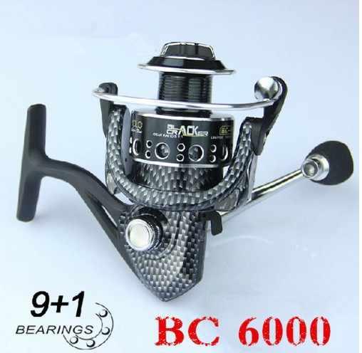 Высококачественная Рыболовная катушка BC 6000 серии 9 + 1 подшипник спиннинга рыболовная Катушка металлическая алюминиевая катушка для приманки