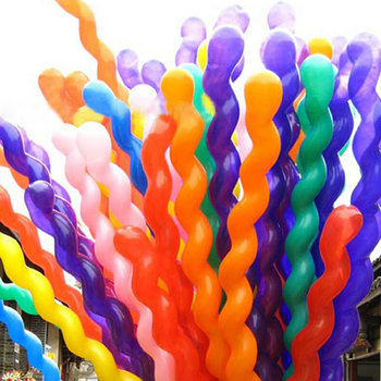 20 Pcs/lot Cute Screw Twisted Latex Balloon Spiral Thickening Long Balloon