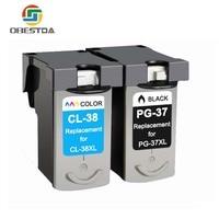 Obestda PG 37 CL 38 Ink Cartridges for Canon PG 37 CL 38 PG37 CL38 PIXMA MP140 MP190 MP210 MP220 MP420 IP1800 IP2600 MX300 MX310