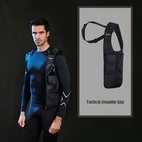 Stealth armpit bag secret agent tactical one shoulder backpack man camping hidden bag mobile phone pack calf bag