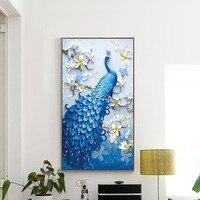 Meian Special Shaped DIY Diamond Painting Diamond Embroidery Animal Peacock Full Rhinestone 5D Cross Stitch Diamond