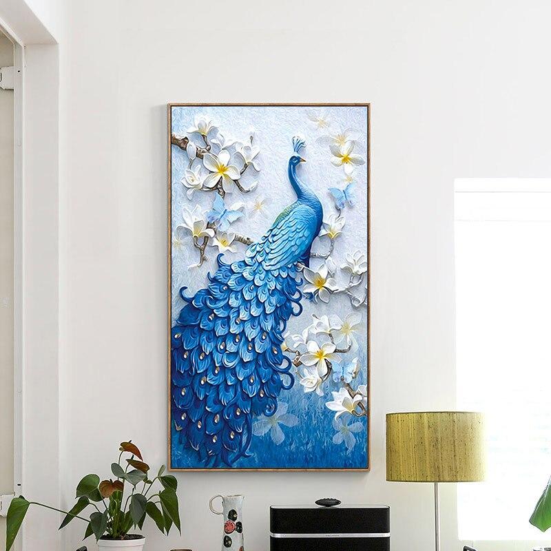 Meian,Special Shaped,DIY Diamond Painting,Diamond Embroidery,Animal,Peacock,Full,Rhinestone,5D,Cross Stitch,Diamond Mosaic,Decor