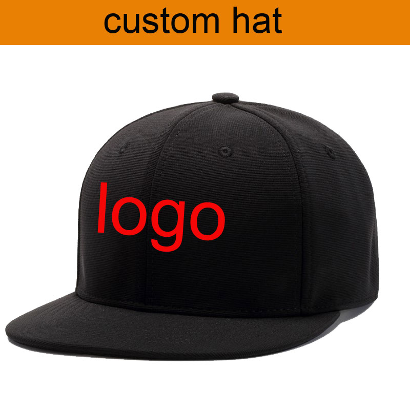 factory wholesale 30pcs flat brim custom cap hat make your logo baseball caps children and adult