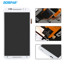 White For Motorola Moto X2 Xt1092 Xt1095 Xt1097 LCD Display Touch Screen with Digitizer Bezel Frame Assembly Replacement Parts